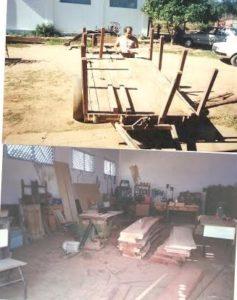 Carpintaria da Fazenda Escola. Professor Jose de João Mano
